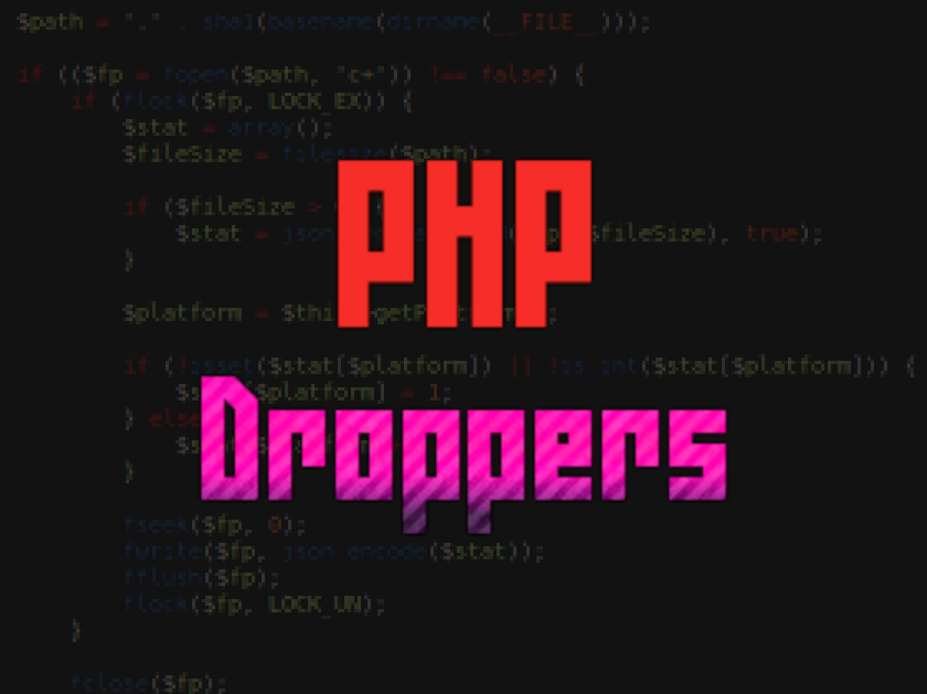 How PHP Droppers Spread Malware