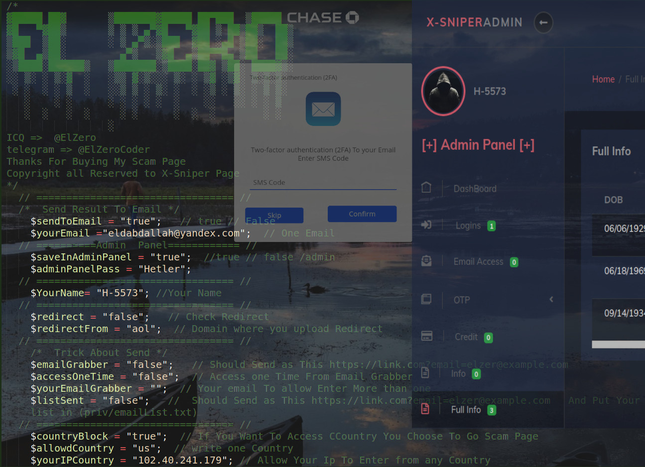 X-SniPer Chase Phishing Kit Targets Fullz for Account Takeover