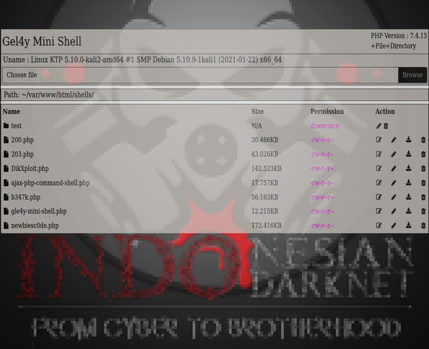 Gel4y Mini Shell by Indonesian Darknet