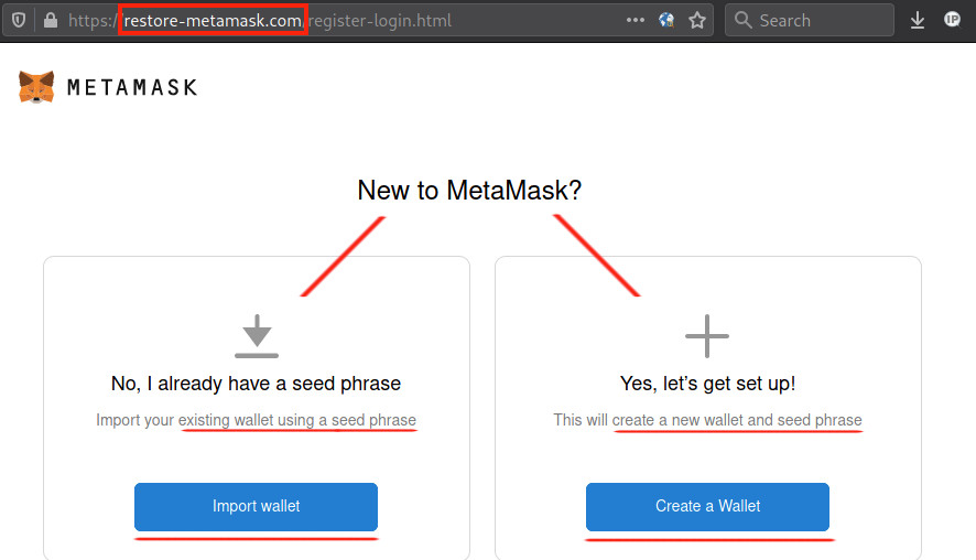restore-metamask.com Used to Steal Entire Crypto Wallets