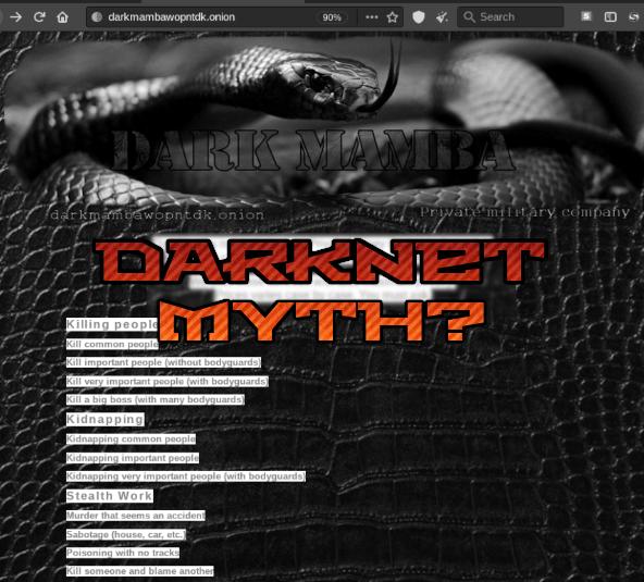 Darknet Myth? Murder-for-hire