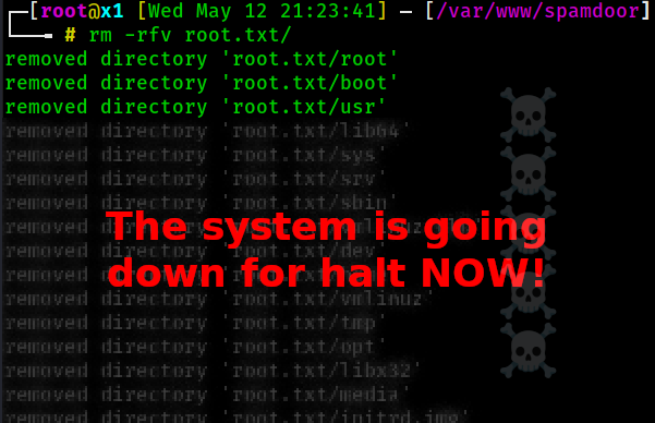 Remove With Caution: root.txt - /